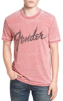 Lucky Brand Men's Fender Flame Graphic Burnout T-Shirt