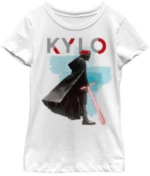 Star Wars Big Girls Kylo Ren Red Lightsaber Short Sleeve T-Shirt