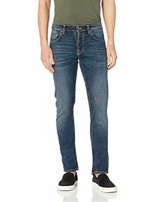 Nudie Jeans Men's Grim Tim Dark Blue Orange 38/36