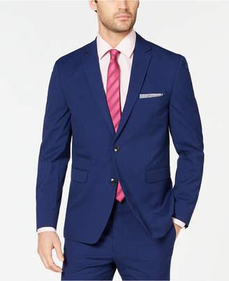 Vince Camuto Men Slim-Fit Stretch Wrinkle-Resistant Blue Check Suit Jacket