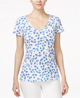 Maison Jules Printed V-Neck T-Shirt, Only at Macy's