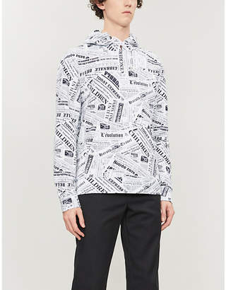 Sandro Newspaper-print cotton-jersey hoody