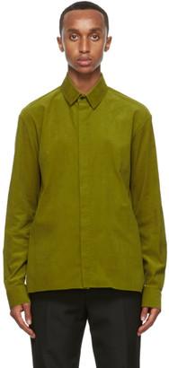 Haider Ackermann Green Corduroy Classic Shirt