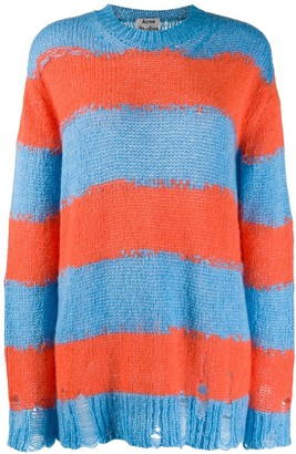 Acne Studios distressed striped sweater