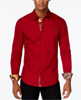 Versace Men's Contrast Trim Long-Sleeve Shirt