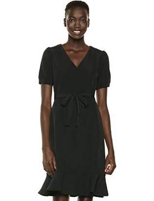 Nanette Lepore Nanette Women's Puff Ss Flounce Hem & Ruffle Collar