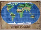 Fun Rugs Supreme World Map Kids Rug Rug