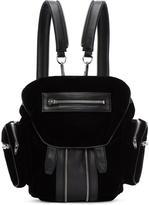 Alexander Wang Black Leather and Velvet Mini Marti Backpack