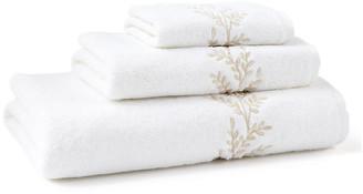 Hamburg House 3-Pc Willow Towel Set - Ivory