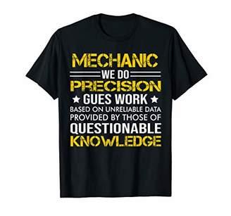 GUESS Mens Mechanic Precision Work Job Title TShirts