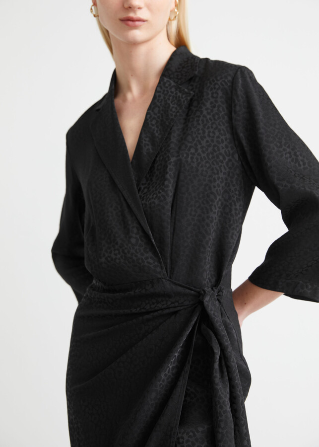 Thumbnail for your product : And other stories Fitted Jacquard Mini Wrap Dress
