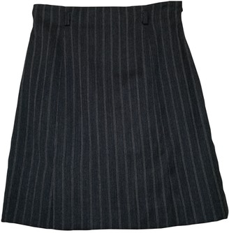 Max & Co. Grey Wool Skirt for Women Vintage