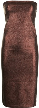 Gucci Pre-Owned Glitter Strapless Midi Dress
