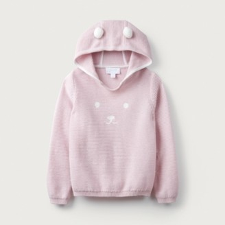 The White Company Bear-Face Hoodie (1-6yrs), Pink, 2-3yrs