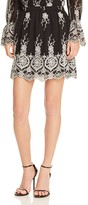 WAYF Amherst Embroidered Skirt