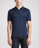 Lanvin Short-Sleeve Sneaker Polo, Blue