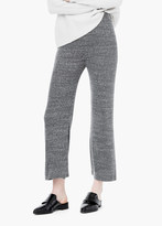 Mango Outlet Flared Cotton-Blend Trousers