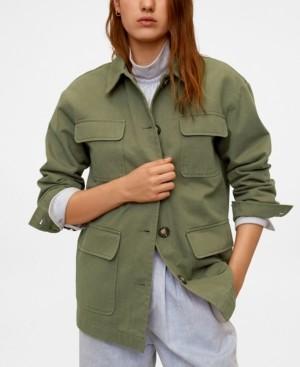 MANGO Women's Multi-Pocket Cotton Jacket