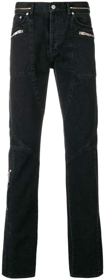 Givenchy zip-detail straight jeans