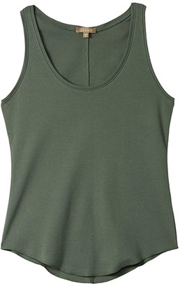 Lilla P Modern Classics Scoop Neck Tank in 100% Cotton (Mineral) Women's Clothing