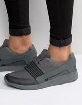 Asos Sneakers in Gray Mesh With Elastic Detail