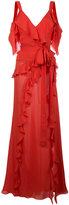Elie Saab pleated trim dress - women - Silk - 36