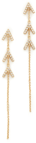 Rebecca Minkoff Triple V Drop Earrings