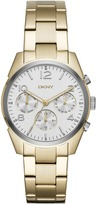 DKNY Crosby Stainless Steel Gold-Tone Chrono Watch