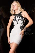 Scala 48601 Dress In White Silver
