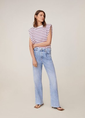 MANGO Shoulder pad stripped t-shirt