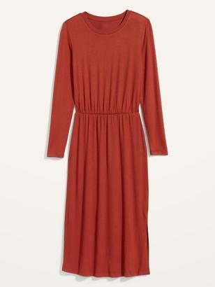 Old Navy Waist-Defined Long-Sleeve Midi T-Shirt Dress for Women