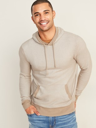 Old Navy Lightweight Textured-Stripe Pullover Sweater Hoodie for Men