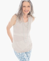Chico's Crinkle Layering Tank