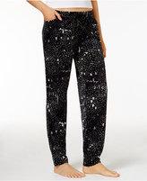 Hue Cuffed Velour Pajama Pants with Pockets