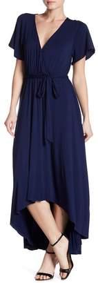 WEST KEI High/Low Knit Wrap Dress
