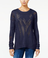 One Hart Juniors' Open-Knit Sweater, Only at Macy's