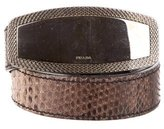 Prada Embellished Snakeskin Belt