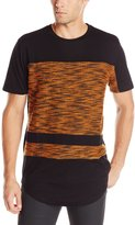 Akademiks Men's Spirit Fly Knit Blocked Long Line T-shirt