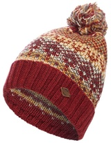 Mantaray Red Nordic-inspired Bobble Beanie Hat