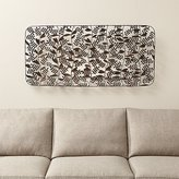 Crate & Barrel Botanical Basket Metal Wall Art