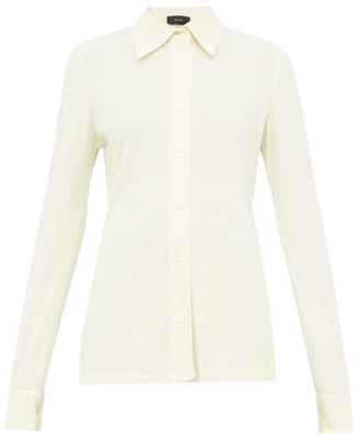 Joseph Crepe-jersey Shirt - Womens - Cream