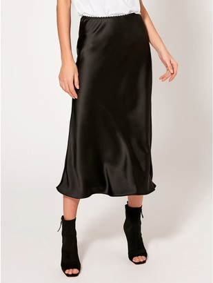 M&Co Satin bias cut midi skirt