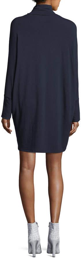 Majestic French Terry Turtleneck Dress