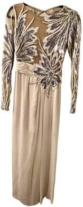 Bob Mackie Beige Silk Dress for Women