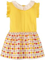Little Green Radicals Peter Pan Dress (Baby) - Daffodil-3 Months