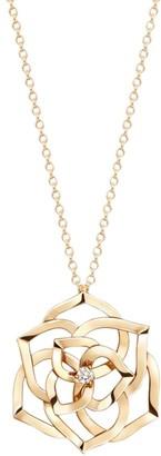 Piaget Rose 18K Rose Gold & Diamond Cutout Pendant Long Necklace