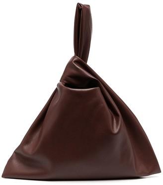 Nanushka Jen vegan leather clutch bag