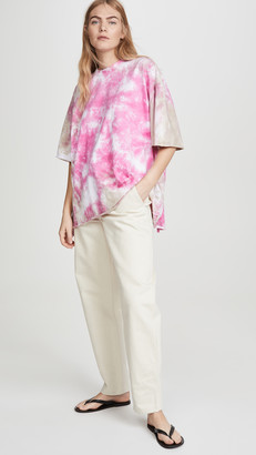 Natasha Zinko Tie Dye Tee with Open Back