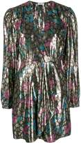 Sandro Paris metallic plunge style dress