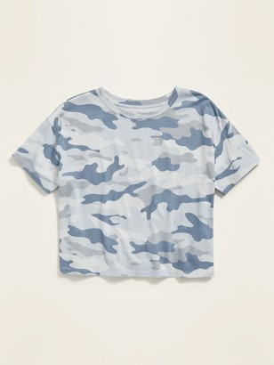 Old Navy Loose-Fit Camo-Print Crop Tee for Women